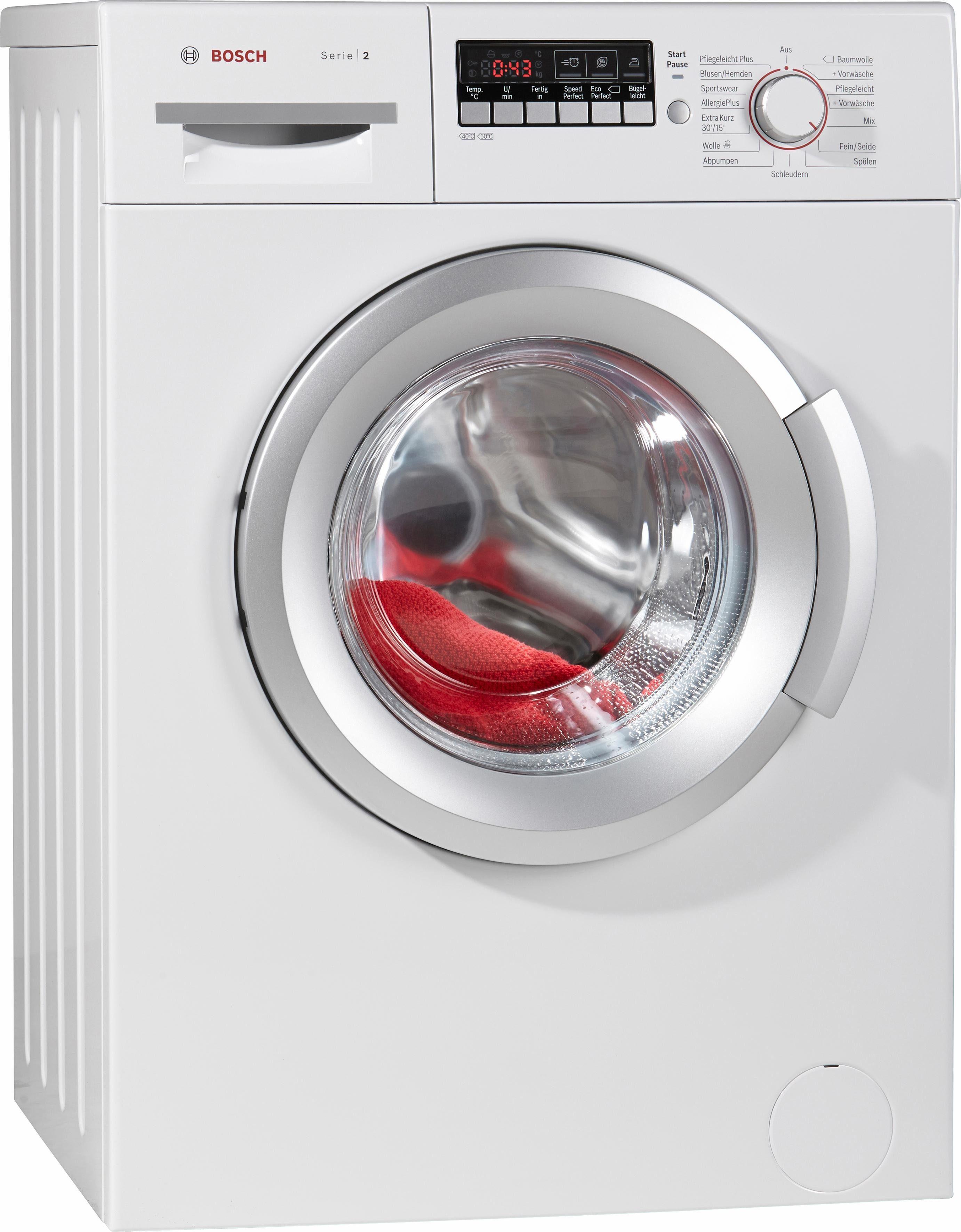BOSCH Waschmaschine WAB282V1, A+++, 6 kg, 1400 U/Min