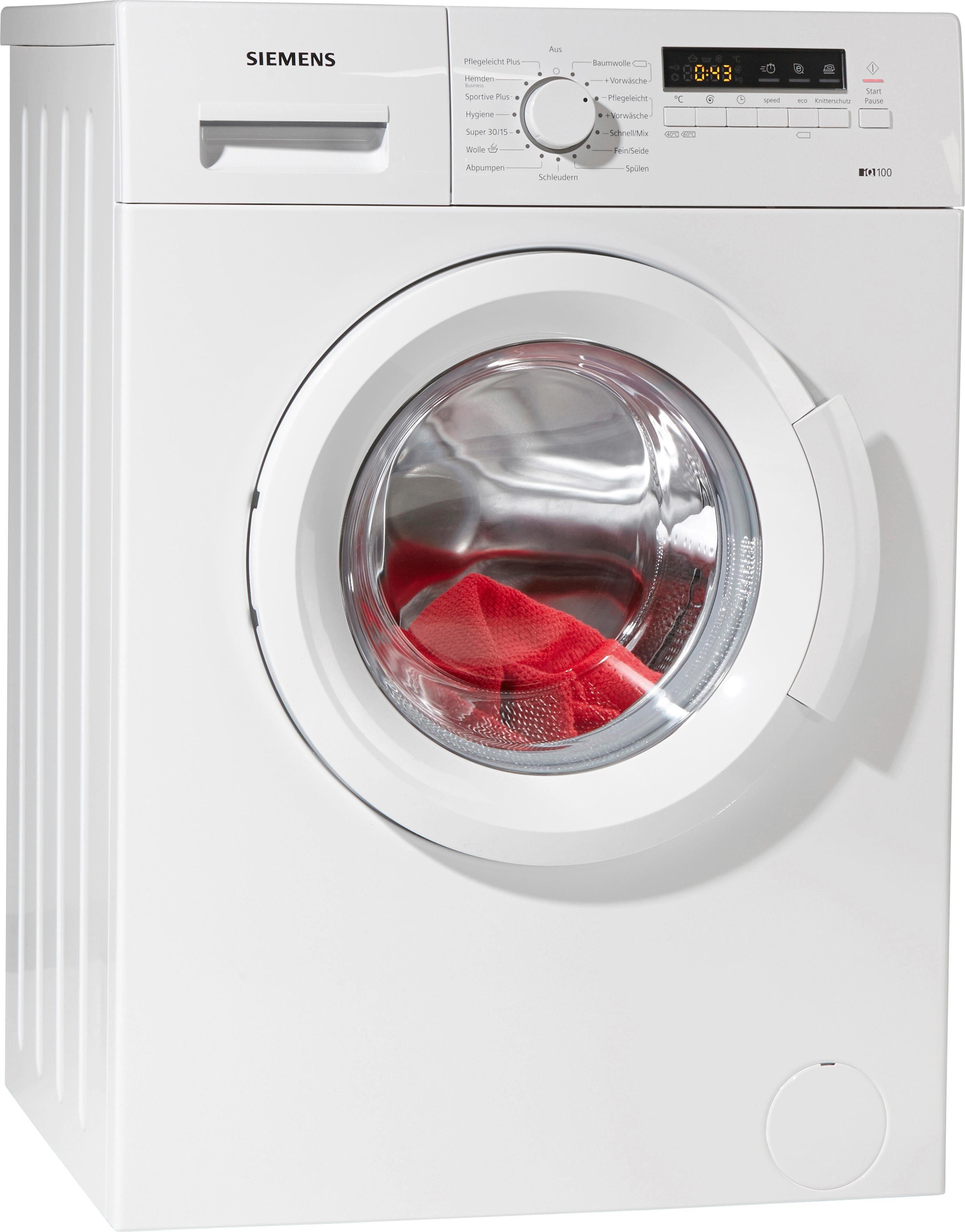 SIEMENS Waschmaschine iQ100 WM14B2ECO, A+++, 6 kg, 1400 U/Min