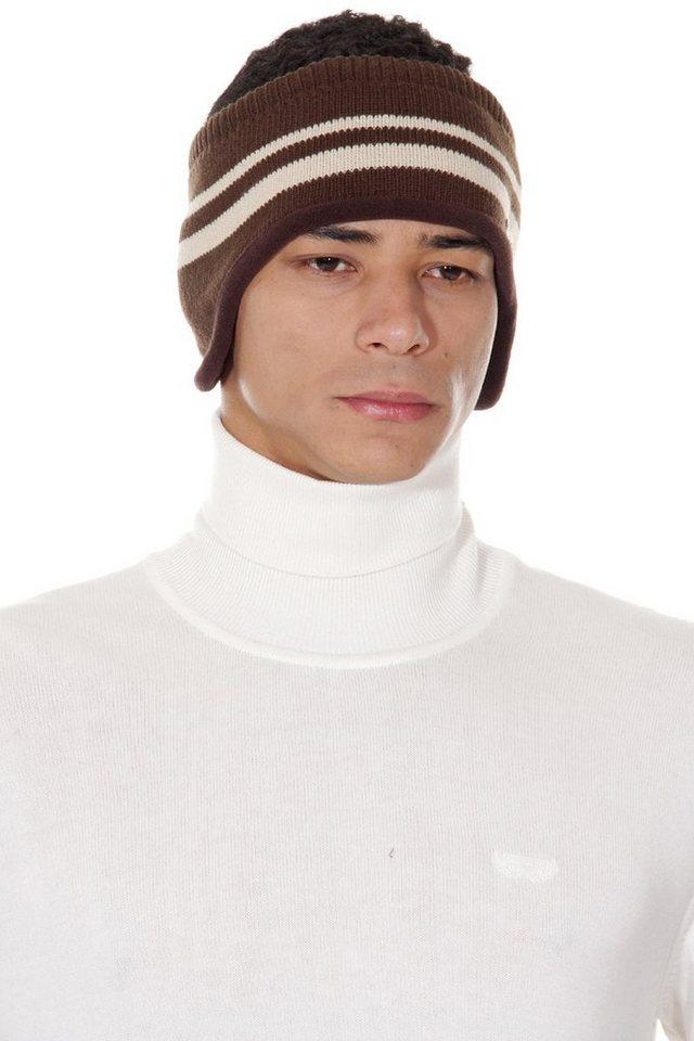 OBOY Streetwear Strickstirnband in braun