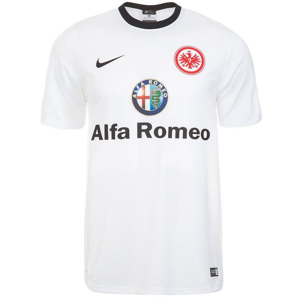 NIKE Eintracht Frankfurt Trikot Away Supporters 2014/2015 Herren in weiß / schwarz