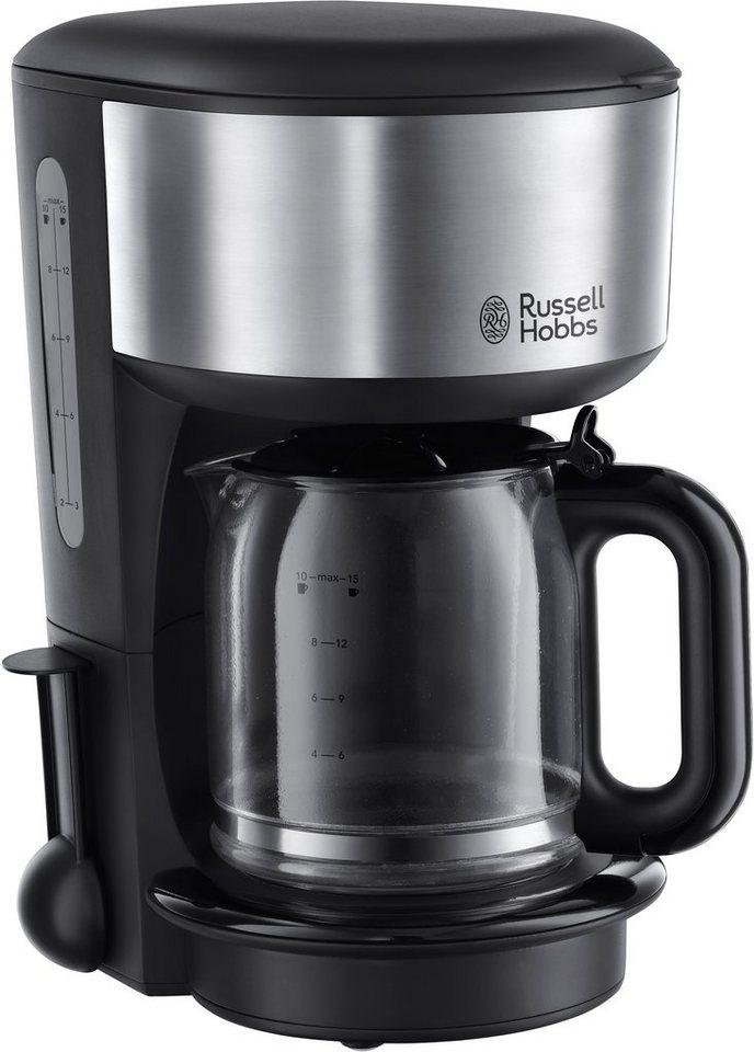 Russell Hobbs Glas-Kaffeemaschine »Oxford« 20130-56, schwarz/silber in schwarz
