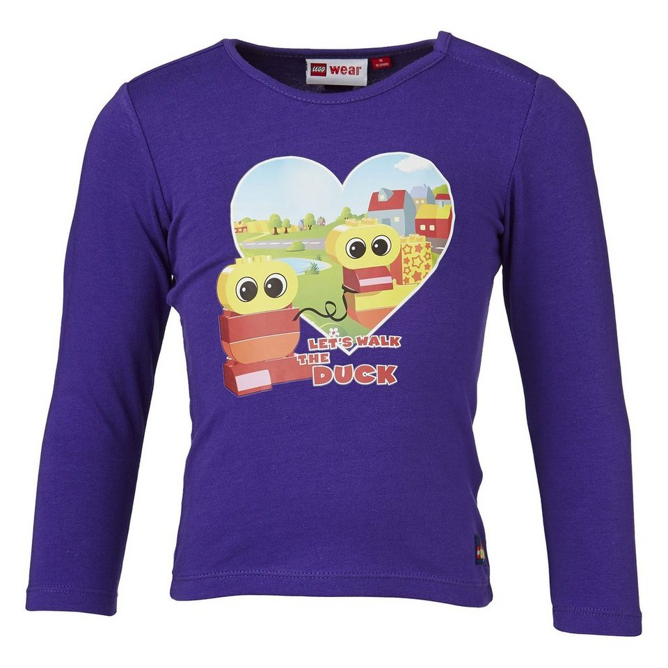 "LEGO Wear Langarm T-Shirt LEGO® Duplo® Taia ""Duck"" Shirt in lila"