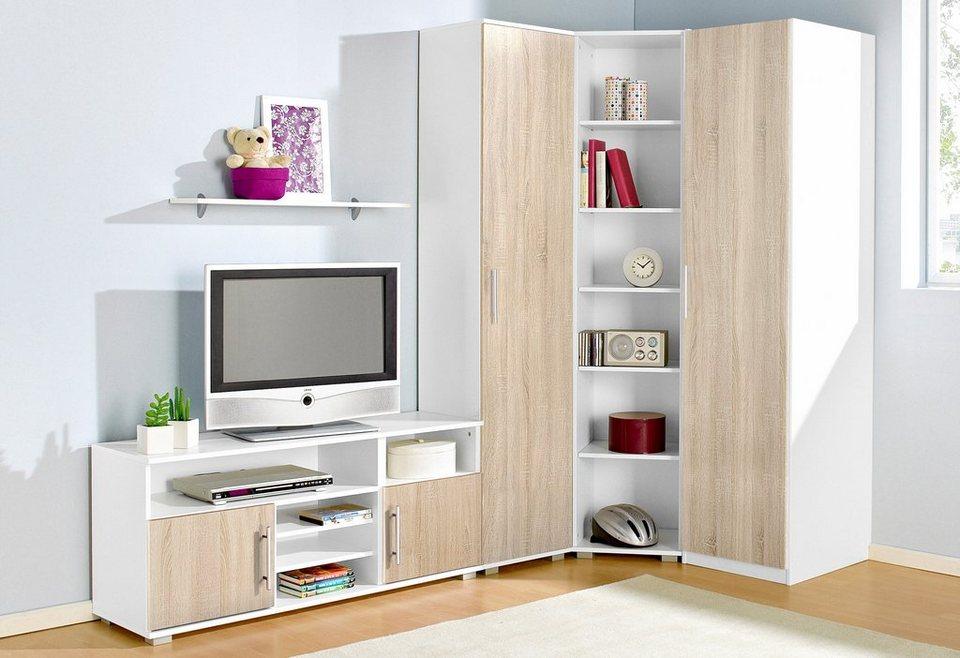 Jugendzimmer Set Set Inkl Kleiderschrank Regalelement Wäscheschrank Sideboard Und Wandregal Online Kaufen Otto