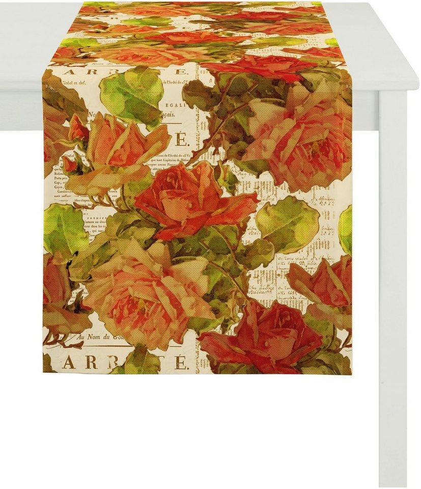 Tischläufer, Apelt, »3039«, Baumwolldruck in floral natur
