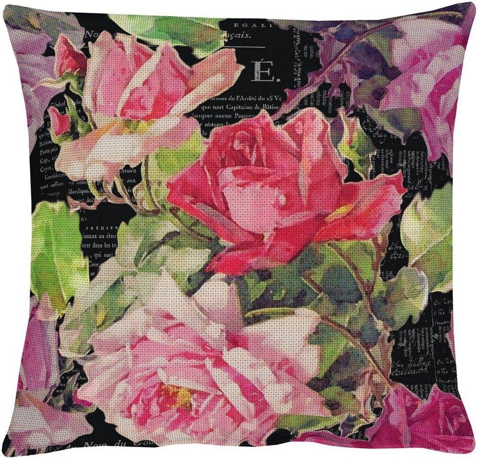 Kissenhülle, Apelt, »3039«, Baumwolldruck in floral dunkel