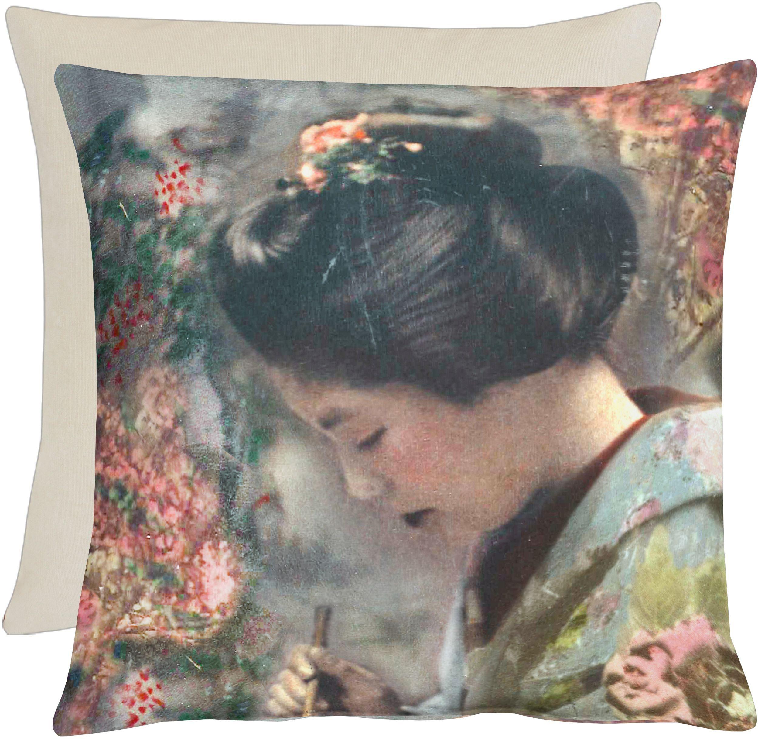 Kissen, Apelt, »Geisha«, Leinendruck
