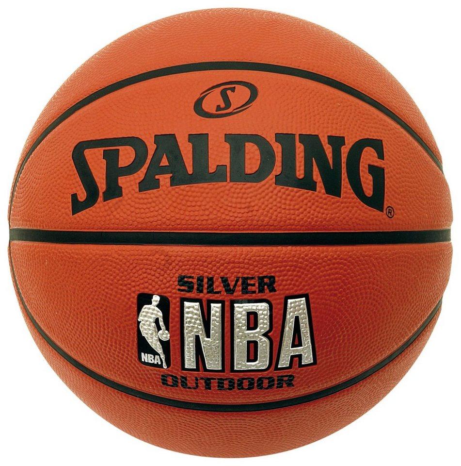 SPALDING NBA Silver Outdoor (73-285Z) Basketball in braun / orange