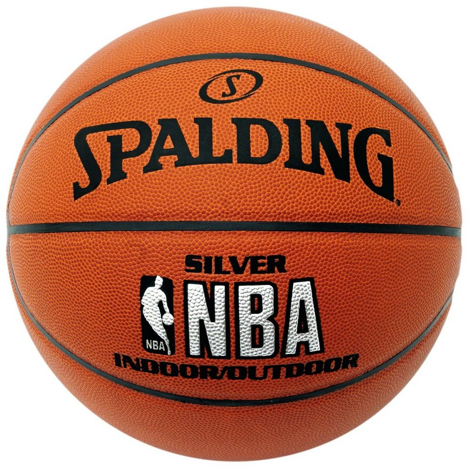 SPALDING Silver Basketball in braun