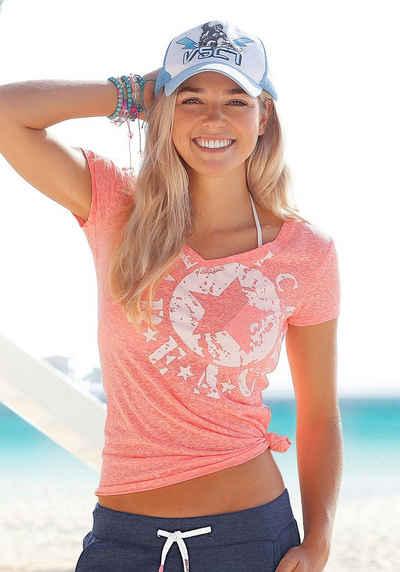 Venice Beach Strandshirt mit Logo-Druck