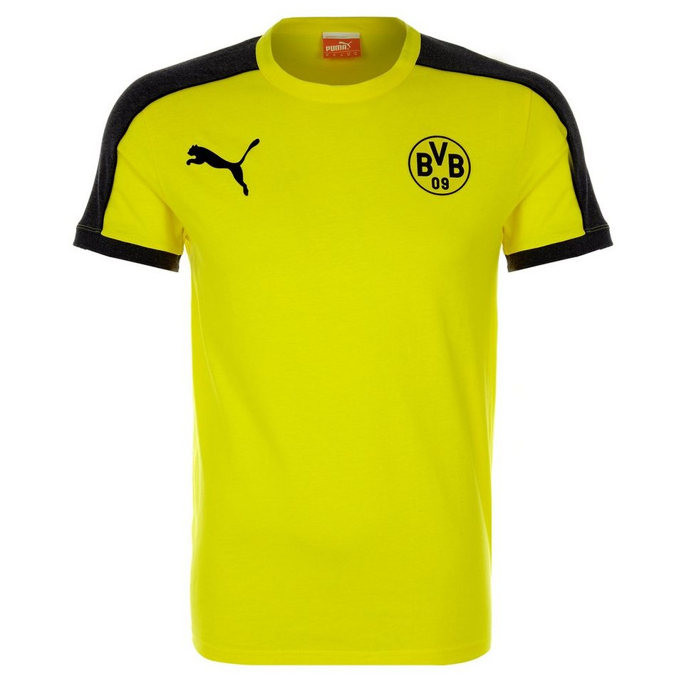 PUMA Borussia Dortmund T7 T-Shirt Herren in gelb / grau