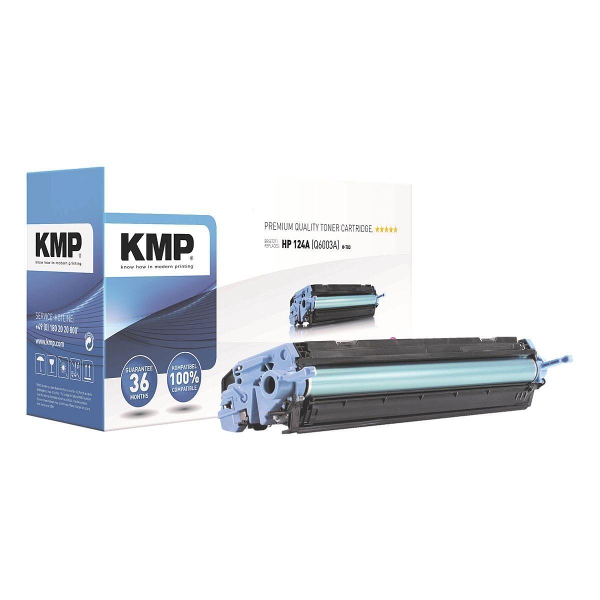 KMP Toner ersetzt HP »Q6003A« 124A