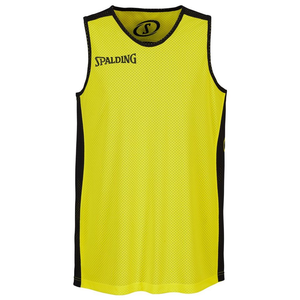 SPALDING Essential Reversible Shirt Kinder in schwarz/neongelb