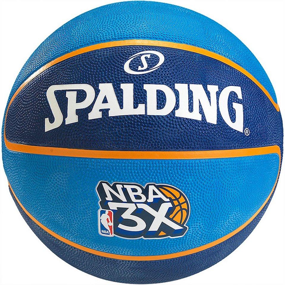 SPALDING NBA 3x Basketball in blau