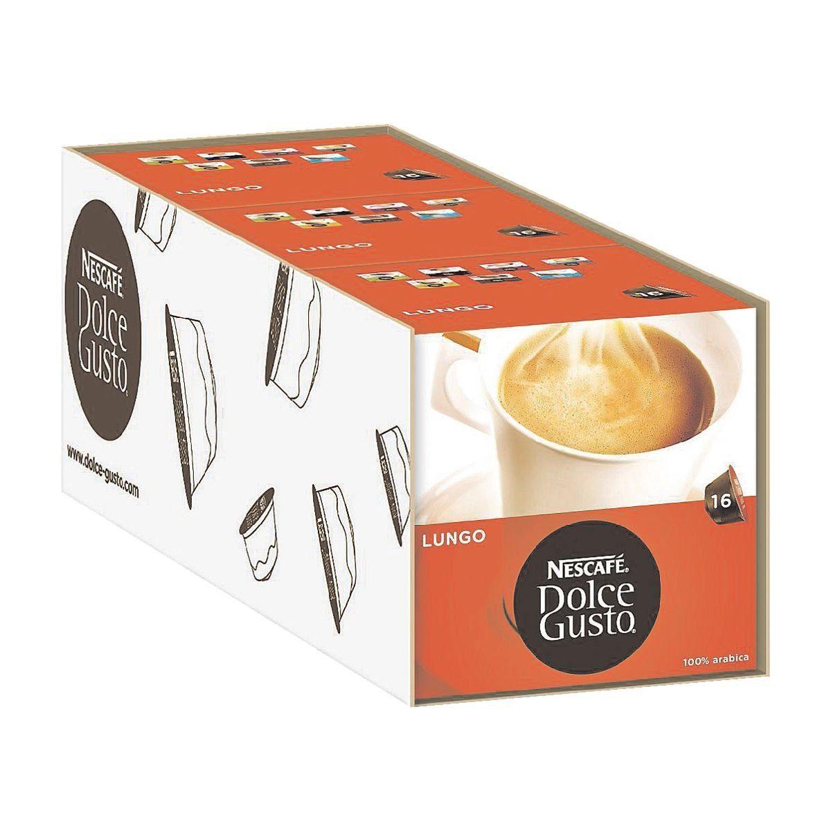 NESCAFE 3 Packungen Kaffeekapseln »Dolce Gusto Caffè Lungo«