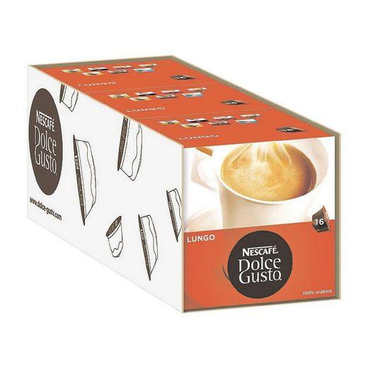NESCAFE 3 Packungen Kaffeekapseln »Dolce Gusto® Caffè Lungo«