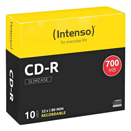 Intenso CD-Rohlinge 10 Stück »CD-R«