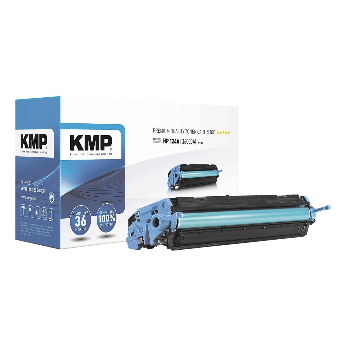 KMP Toner ersetzt HP »Q6000A« 124A
