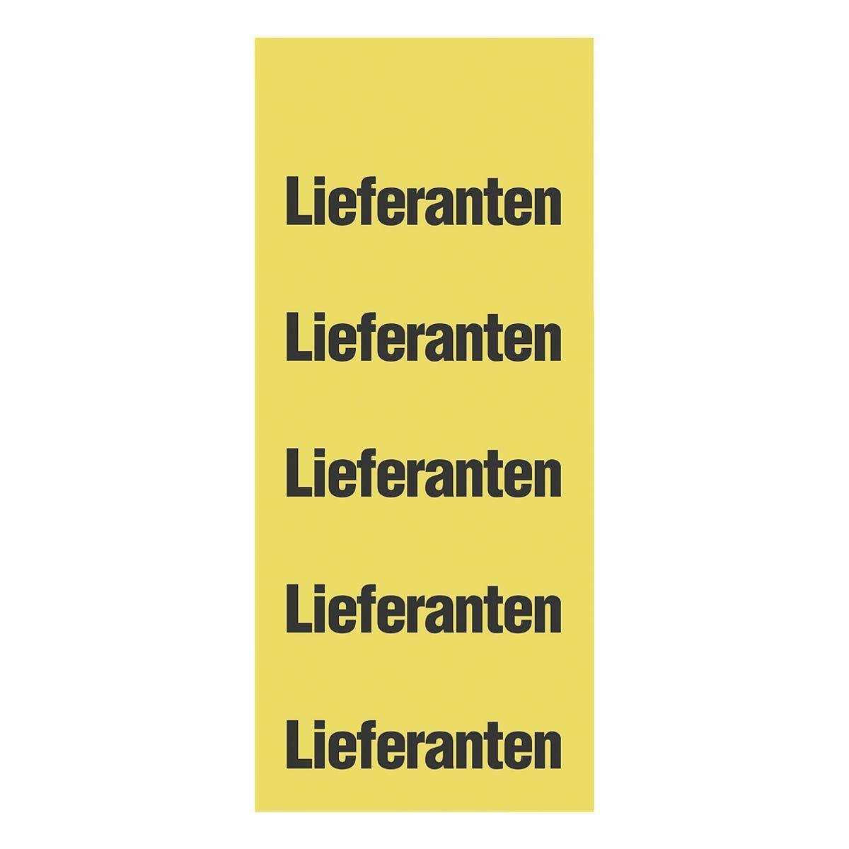 OTTO Office Standard Selbstklebende Inhaltsschilder »Lieferanten«