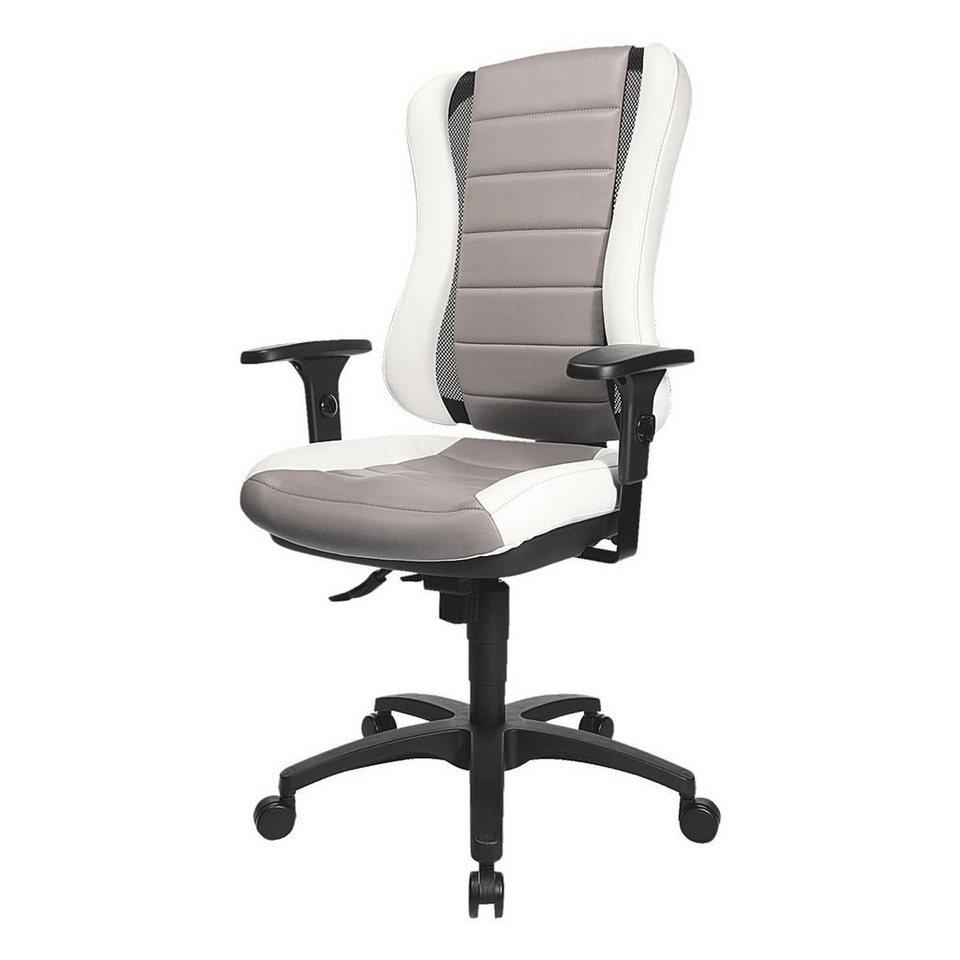 Topstar Bürostuhl »Headpoint RS« ohne Armlehnen in weiß/grau