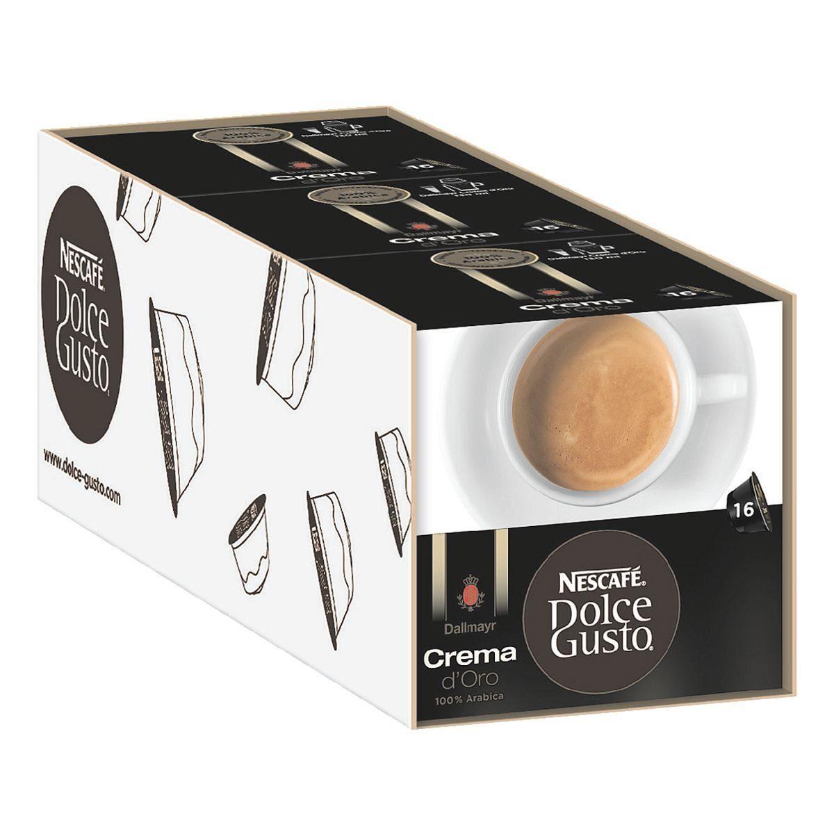 NESCAFE 3x Kaffeekapseln »Dolce Gusto Dallmayr Crema d'Oro...