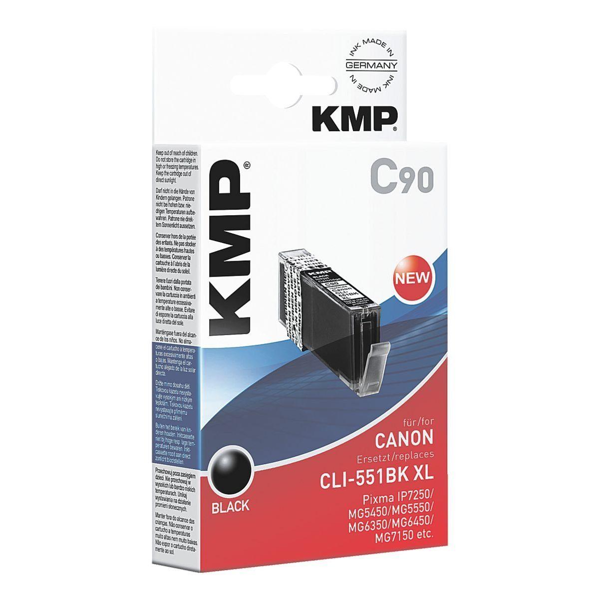 KMP Tintenpatrone ersetzt Canon »CLI-551BK XL«