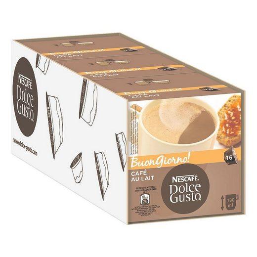NESCAFE 3 Packungen Kaffeekapseln »Dolce Gusto® Café au Lait«