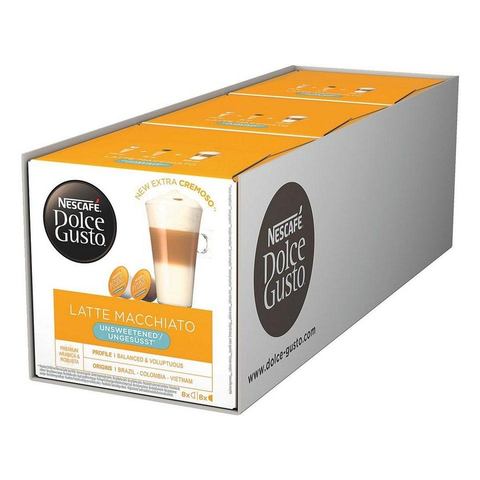 NESCAFE 3x Kaffeekapseln »Dolce Gusto Latte Macchiato«