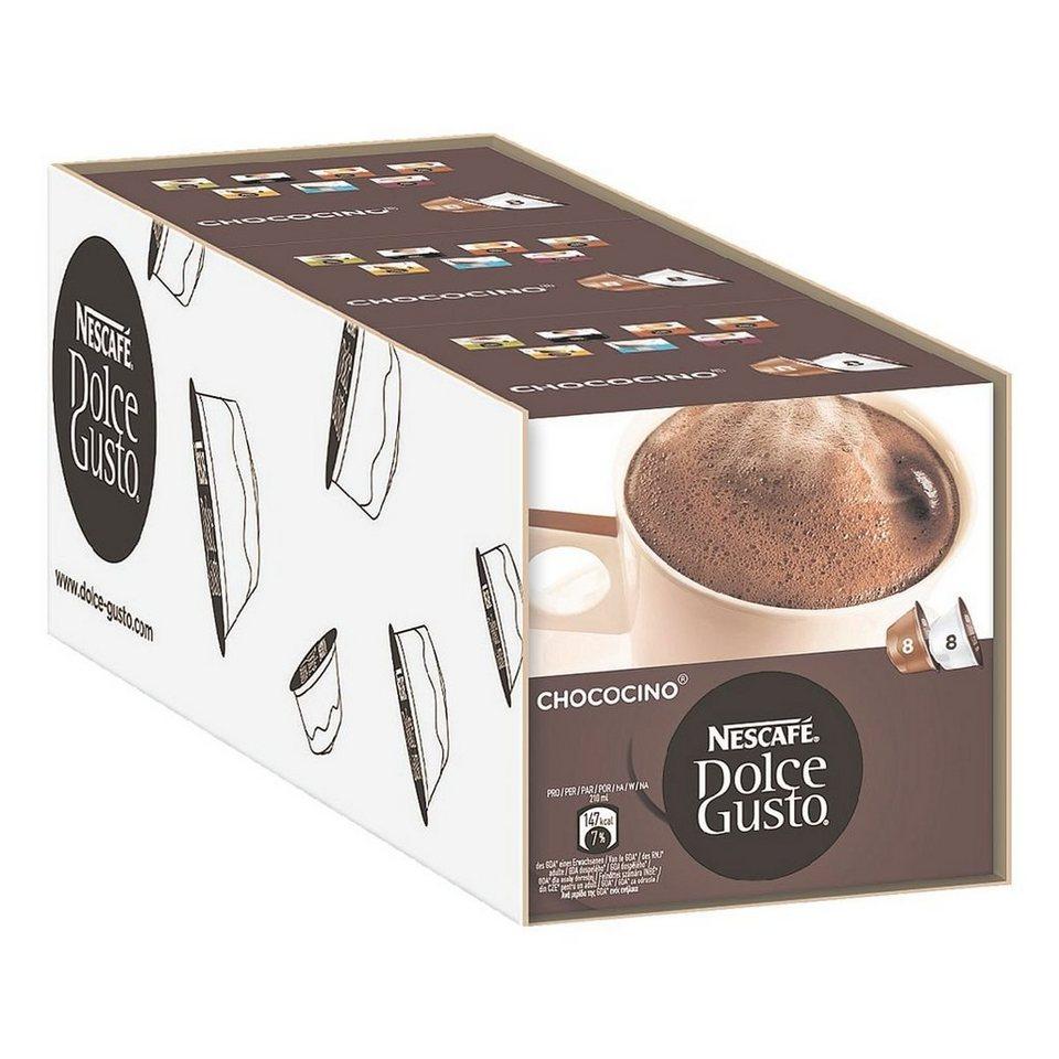 NESCAFE 3x Kaffeekapseln »Dolce Gusto Chococino«