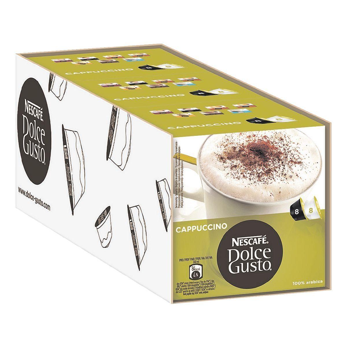 NESCAFE 3 Packungen Kaffeekapseln »Dolce Gusto Cappuccino«