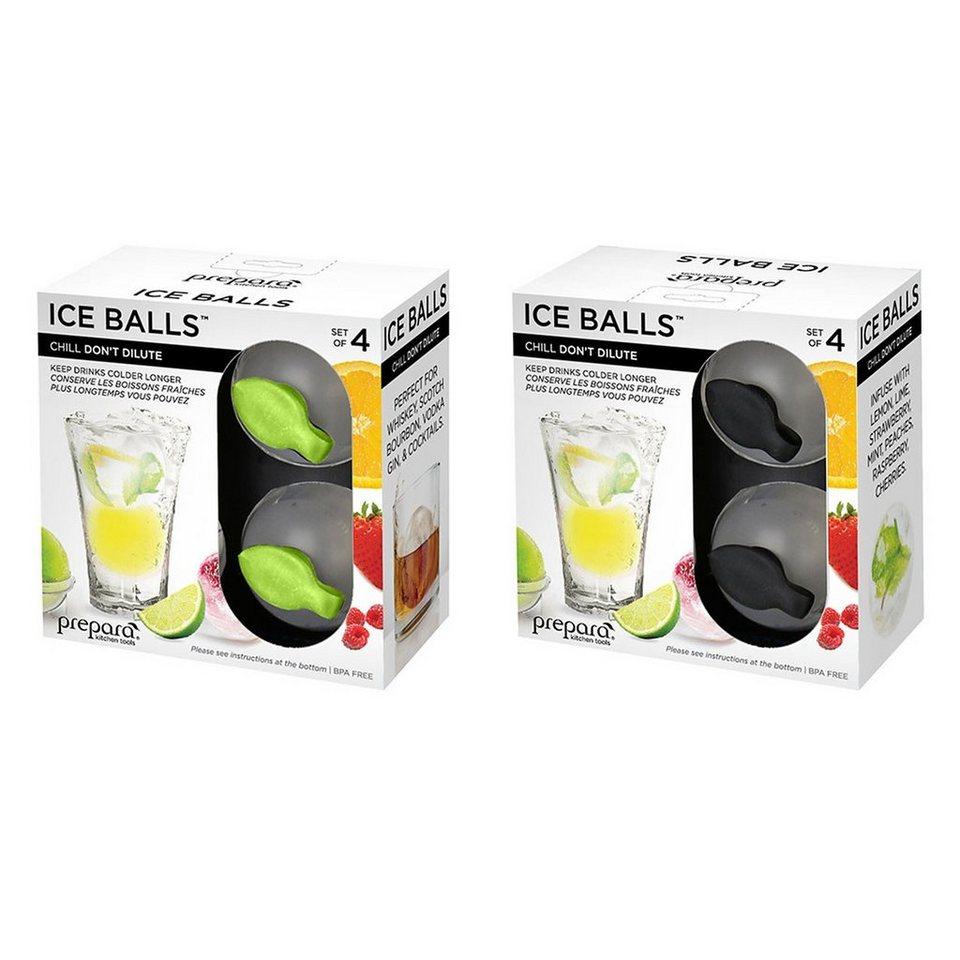 PREPARA Prepara ICE POD Eiswürfel-Ball - 4er Set