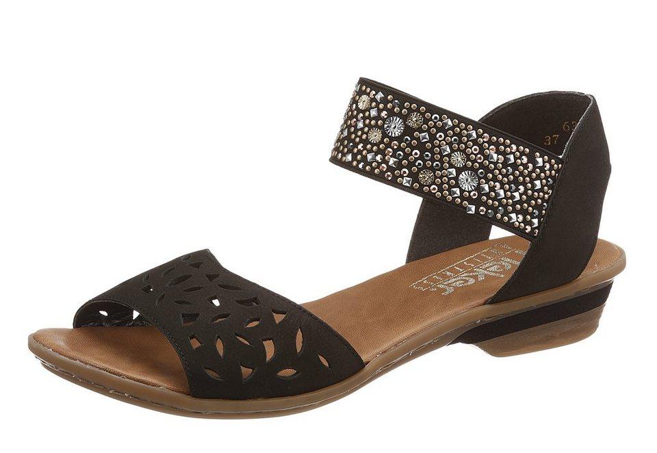 Sandalette, Rieker in schwarz