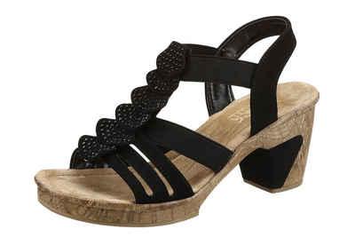 Rieker Sandalette mit glitzernden Strass-Steinchen