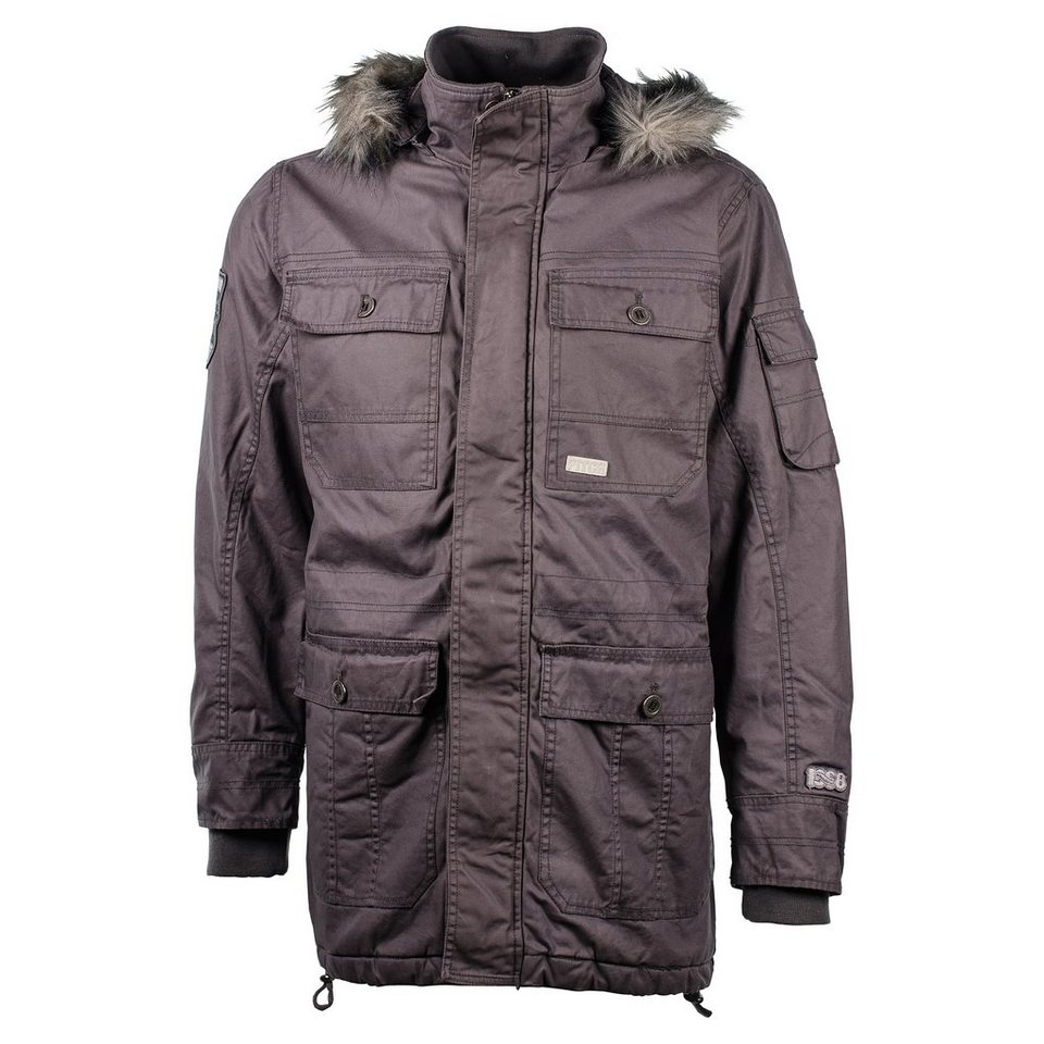 PITCH LONG PARKA Herren in black