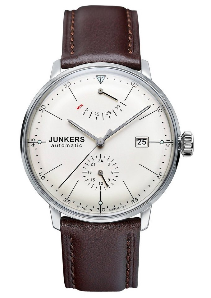 Junkers-Uhren Automatikuhr »BAUHAUS, 6060-5« Made in Germany in braun