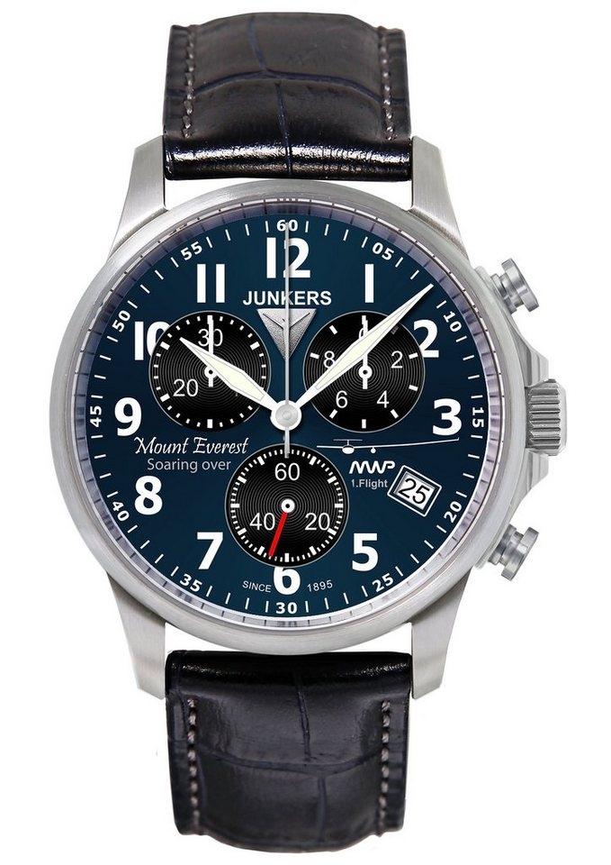 Junkers-Uhren Chronograph »Mountain Wave, 6894-3« in dunkelblau