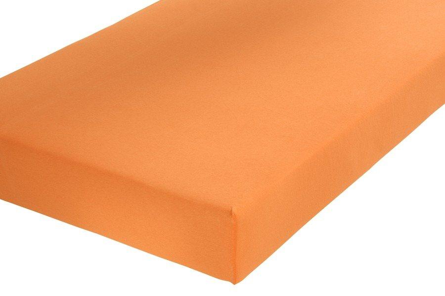 SCHLAFGUT Spannbetttuch in orange