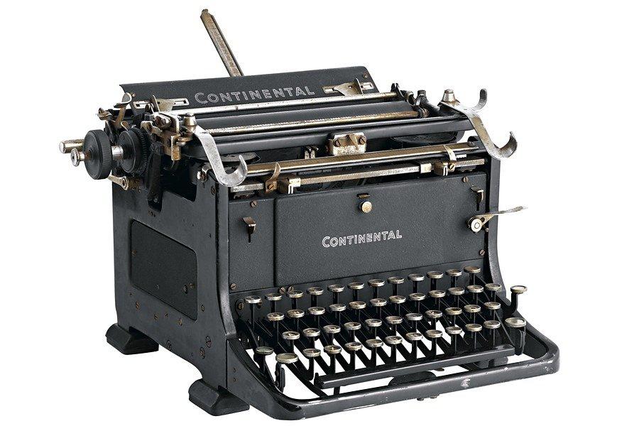 heine home Schreibmaschine in schwarz
