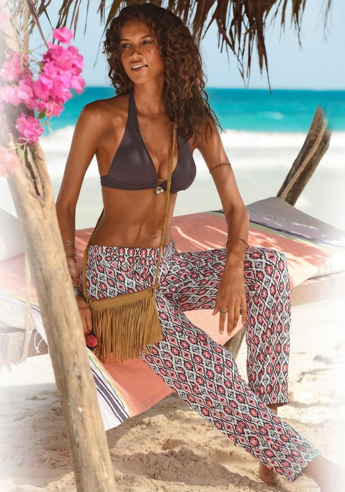 s.Oliver RED LABEL Beachwear Strandhose im Ethno-Look in hummer-creme