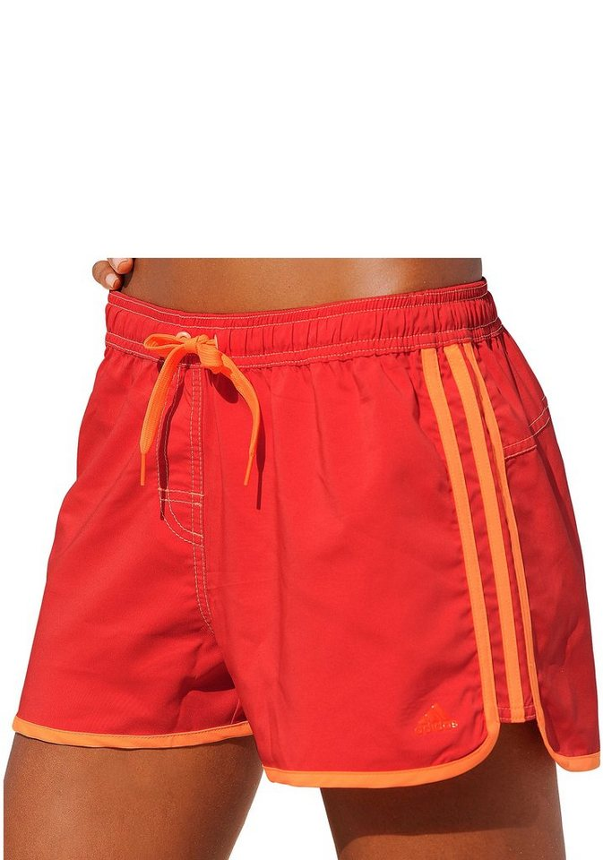 adidas Performance Badeshorts in rot-orange