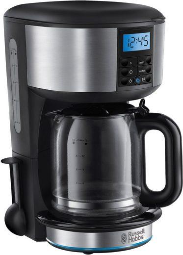 RUSSELL HOBBS Filterkaffeemaschine Buckingham Dig. Glas 20680-56, 1,25l Kaffeekanne, 1x4, mit blauem Leuchtring