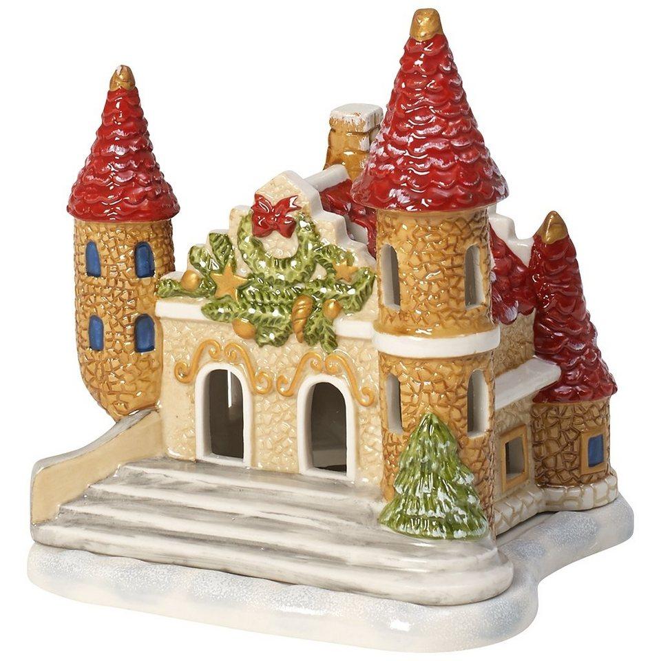 VILLEROY & BOCH Lichthaus Schloss 12x10x12cm »Mini Christmas Village« in Dekoriert