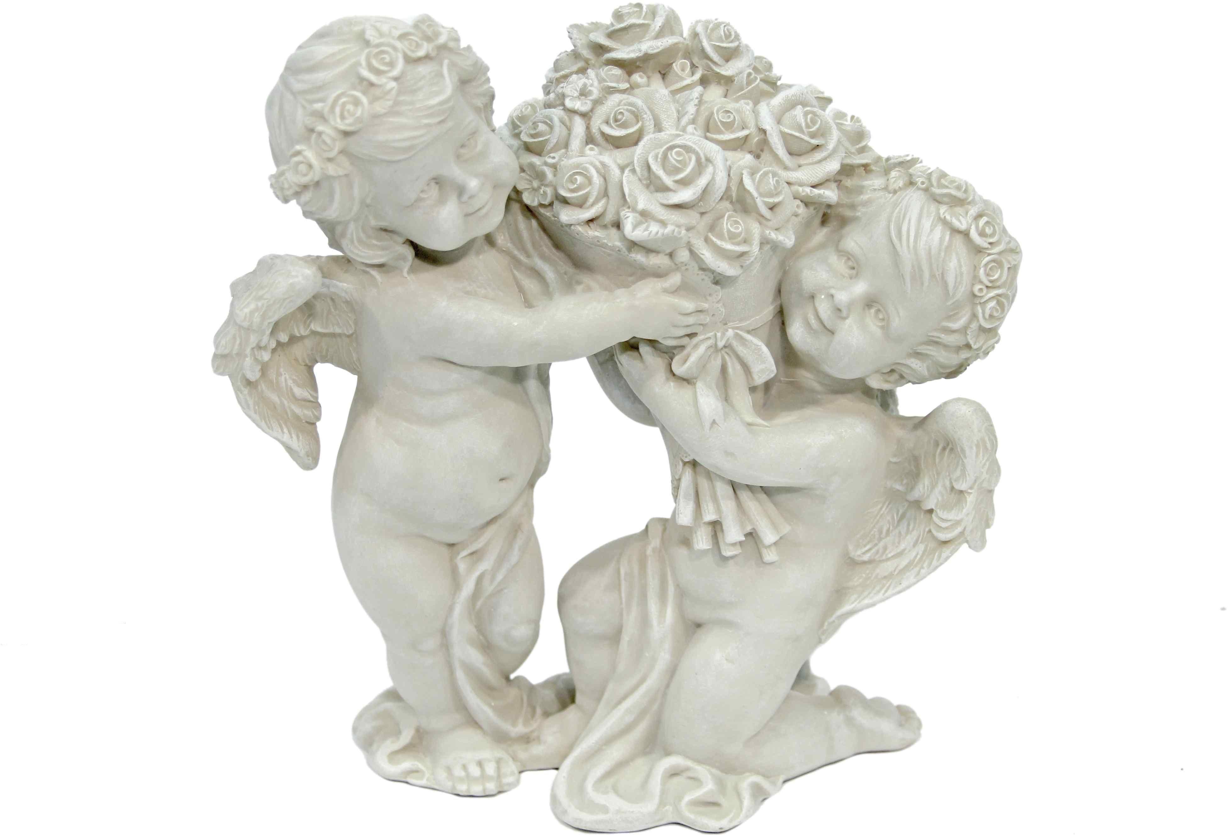 Dekofigur, Home affaire, »Engel« | Dekoration > Figuren und Skulpturen > Engel | Antikweiß | Kunststein | Home affaire