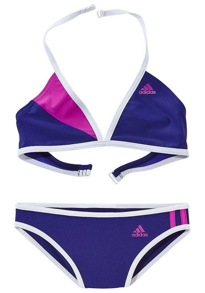 Triangel-Bikini, adidas Performance in blau-lila
