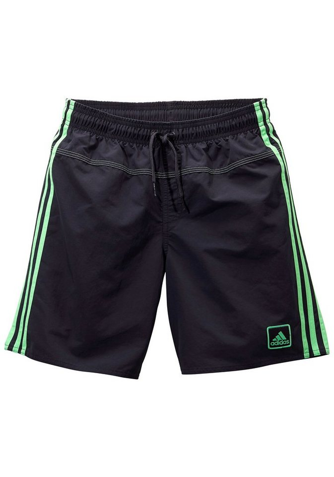 Badeshorts, adidas Performance in anthrazit-grün