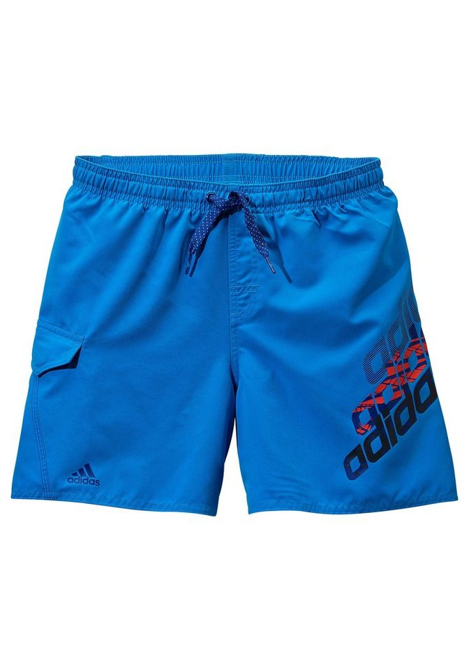 Badeshorts, adidas Performance in blau-rot