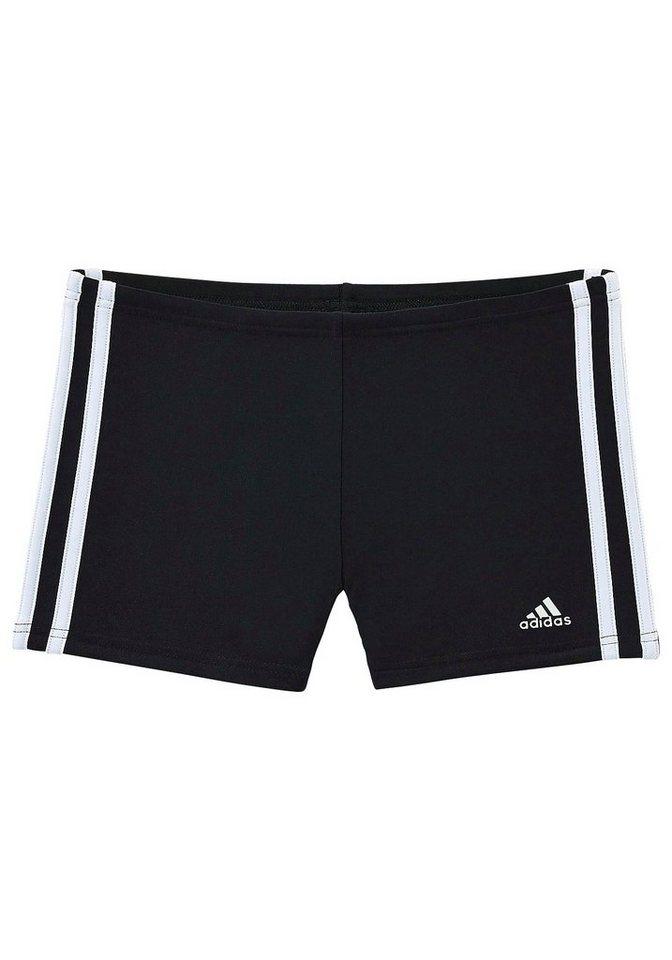 Boxerbadehose, adidas Performance in schwarz-weiß