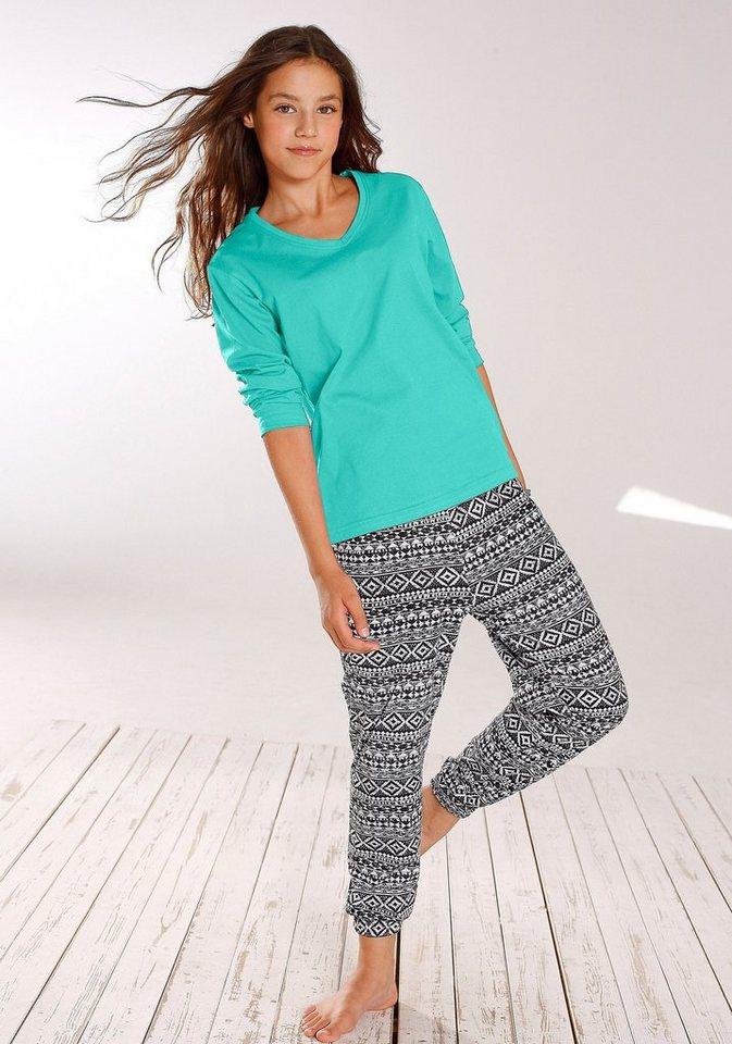 Buffalo, Pyjama, lange Form, mit lässig sitzender Haremshose in mint
