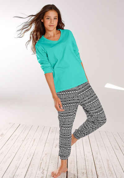 8f7517591b2b95 Buffalo, Pyjama mit cool bedruckter Hose