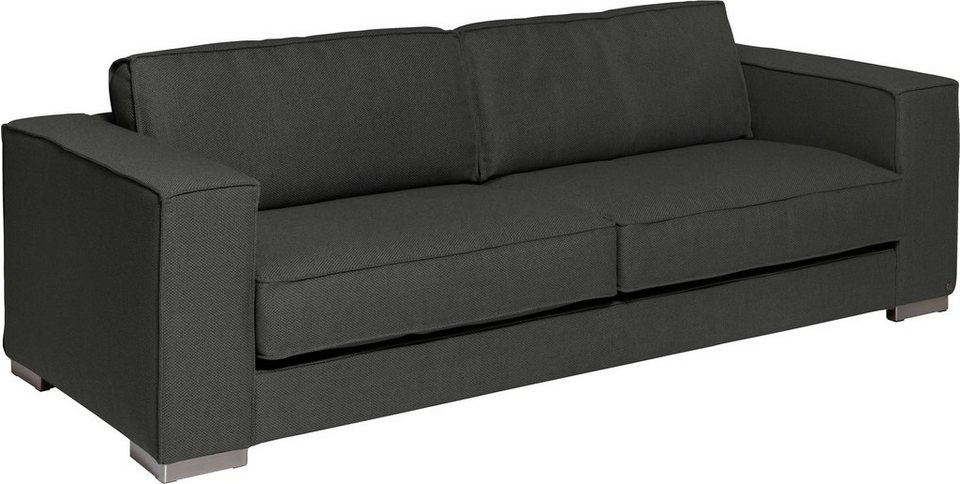 TOM TAILOR 3-Sitzer »EDGE«, inklusive Rückenkissen, Breite 227 cm in charcoal grey TKI 9