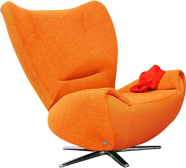 TOM TAILOR Loungesessel »TOM«, mit Metall-Drehfuß in orange juice TBO 7